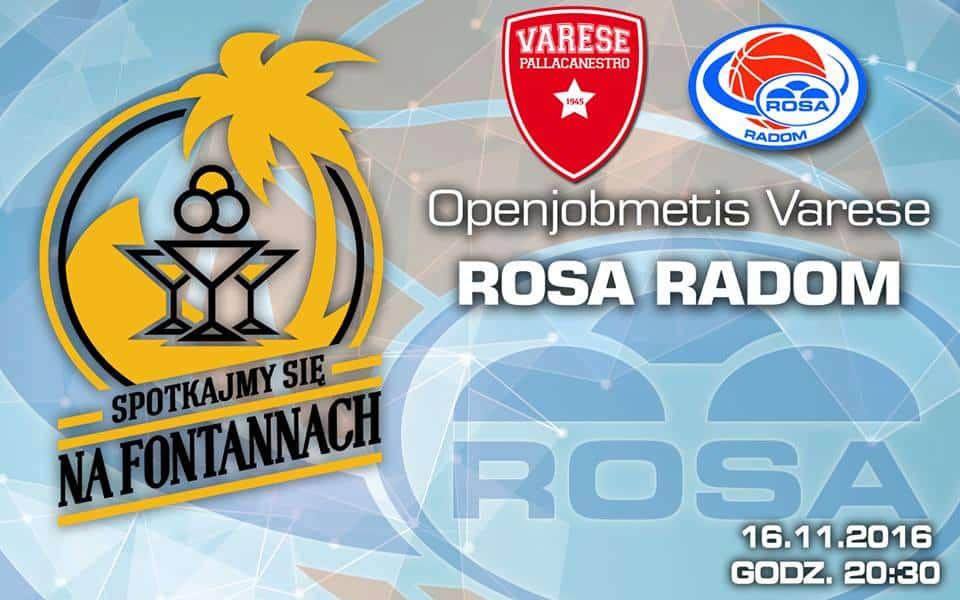FIBA Champions League 2016-17: una rinfrancata Varese riceve i polacchi del Rosa Radom