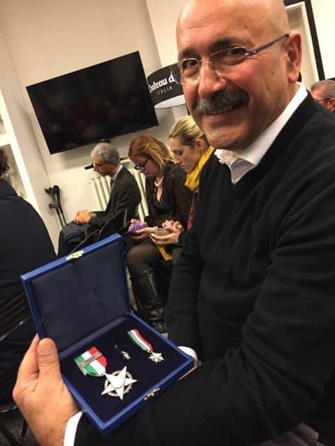 Basket in carrozzina, il Presidente della Briantea84 Alfredo Marson ha ricevuto dal Coni la Stella d'Argento al merito sportivo
