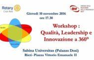 """A2 Citroen Ovest 2016-17: coach Nunzi della NPC Rieti relatore giovedì 10 novembre a """"Qualità, Leadership e Innovazione a 360°"""""""