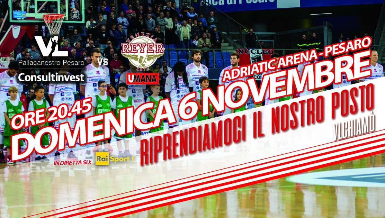 Lega 2016-17: la Consultinvest Pesaro in striscia negativa ma per interromperla servirà l'impresa contro l'Umana Venezia