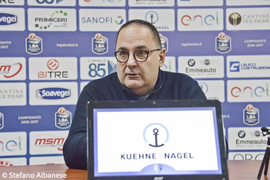 Lega A 2016-17: il G.M. Alessandro Giuliani fa il punto in casa Enel Brindisi e presenta la sfida con Pesaro (Video)