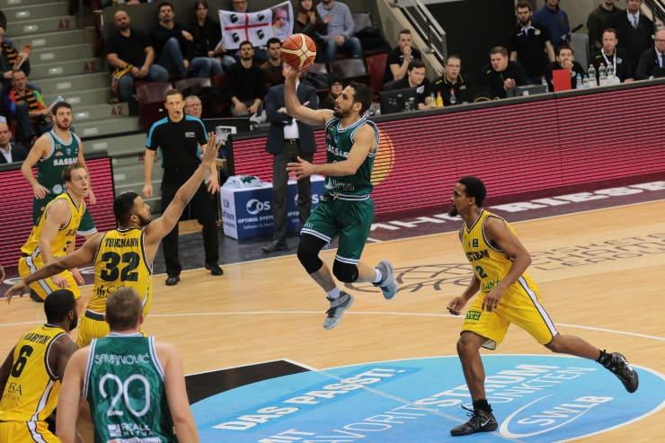 FIBA Champions League 2016-17: ottima Sassari che batte l'MHP Riesen a domicilio nel penultimo match del girone