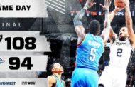 NBA 2016-17: nella notte NBA del 31 Gennaio gli Spurs vincono sui Thunder
