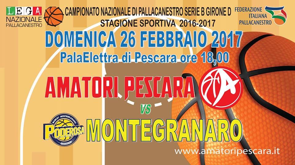 Serie B girone D 2016-17: ancora un #BigMatch a Pescara arriva la capolista Montegranaro al Palaelettra