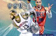 NBA 2016-17: la notte del 2 Aprile, Westbrook -1 da Robertson ma OKC perde