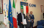 Serie A2 2016-17: il Commendator Lucio Benacquista ha ricevuto la Stella d'Argento del Coni