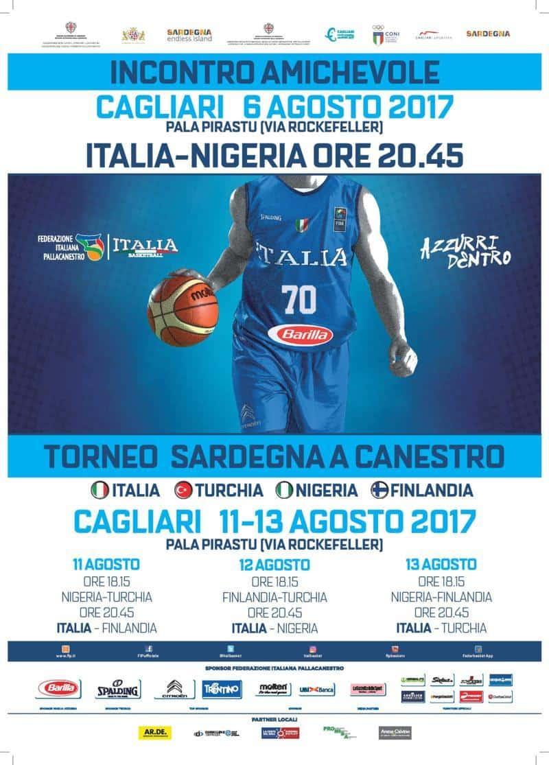 Nazionale 2017-18: amichevole di Italbasket per #EuroBasket2017 in Sardegna vs la Nigeria