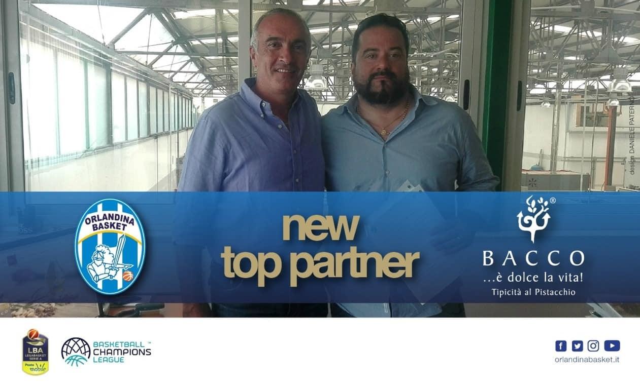 Lega A PosteMobile 2017-18: la Bacco Srl è un nuovo Top Sponsor dell'Orlandina Basket