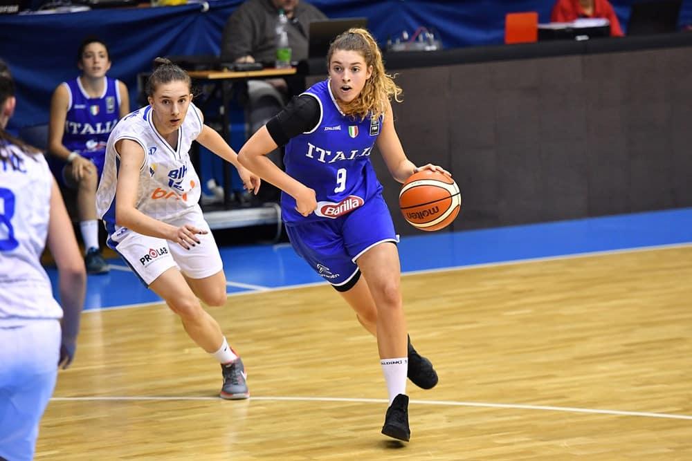 Nazionali 2017-18: parte molto bene l'Europeo per l'Italia U18F in Ungheria battuta al Bosnia la debutto per 71-44