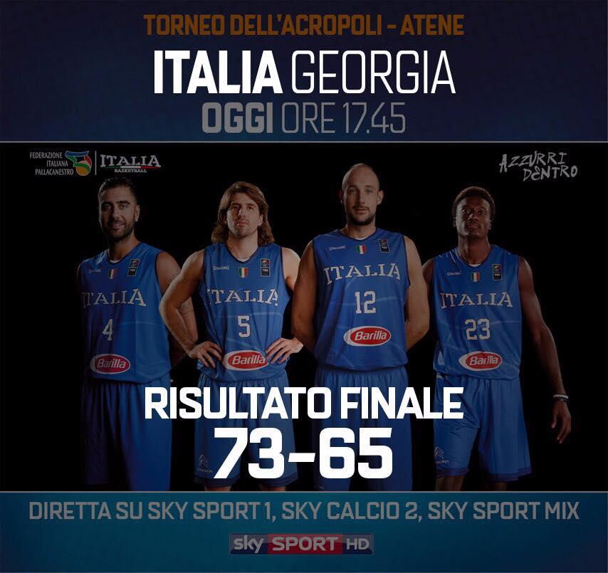 Road to EuroBasket 2017-18: l'Italia ritrova la vittoria vs la Georgia nell'ultimo match dell'Acropolis tra 6 giorni l'esordio a Tel Aviv
