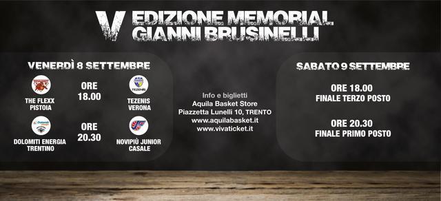 Precampionato Lega A PosteMobile 2017-18: al PalaTrento 5^ edizione del Memorial Gianni Brusinelli