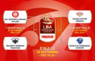 Prozis Supercoppa 2017: il via sabato 23 settembre alla manifestazione con il primo match tra Dolomiti Energia Trentino ed EA7 Olimpia Milano