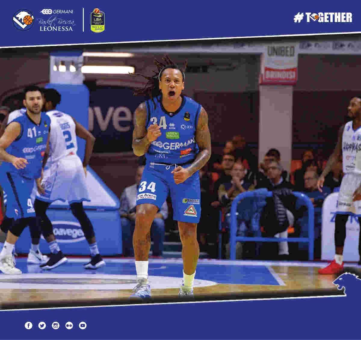Lega A PosteMobile 2017-18: la Germani Basket Brescia ci ha preso gusto e vince anche a Brindisi