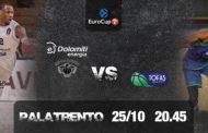 7Days Eurocup 2017-18: al PalaTrento i turchi del Tofas Bursa per un'Energia Dolomiti Trentino che vuole riscattarsi