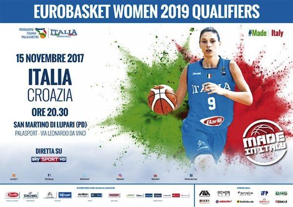 Nazionali 2017-18: i biglietti di Italia-Croazia per le Qualificazioni agli Europei Femminili 2019