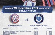 A2 Ovest Old Wild West 2017-18: i biglietti per Eurotrend Biella-Cuore Napoli del 29 gennaio