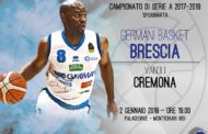 Lega A PosteMobile 2017-18: Germani Brescia-Vanoli Cremona un derby affascinante