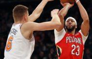 NBA 2017-18 nella notte del 14 Gennaio, serve un overtime ai Pelicans per vincere la battaglia del Madison Square Garden