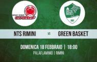 Serie B girone B Old Wild West 2017-18: trasferta sul campo della NTS Rimini per il Green Basket Palermo