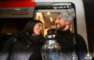 Storie di basket 2018: la Sindaca di Torino alla stazione all'arrivo dell'Auxilium con la Coppa Italia