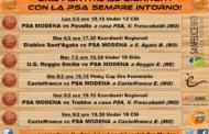 Giovanili maschili 2017-18: i risultati delle squadre della PSA Modena