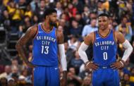 NBA 2017-18 nella notte del 06 Gennaio Westbrook e George trascinano OKC alla vittoria sui Warriors