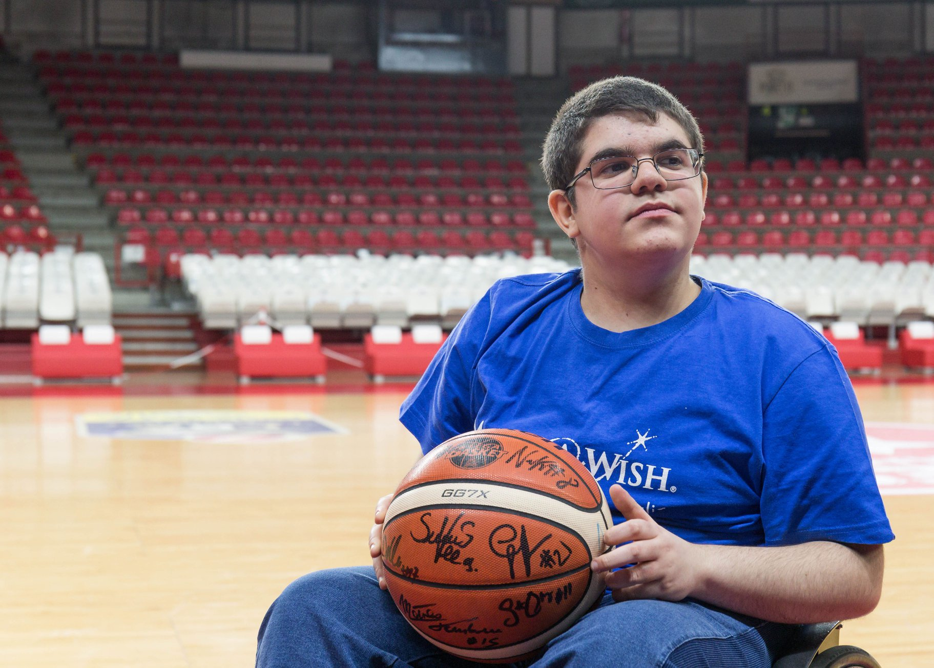 Basket in carrozzina 2018: grazie a Make A Wish Italia Onlus Riccardo Rustici incontrerà Steph Curry