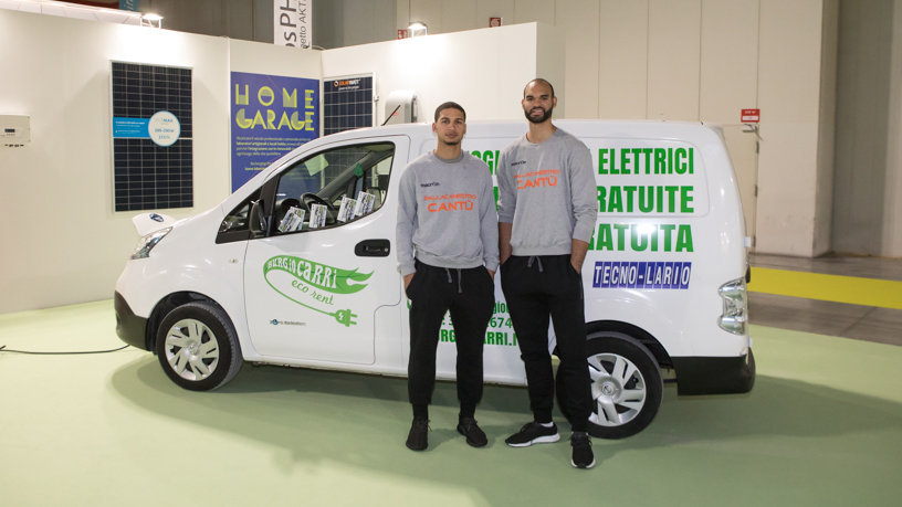 Sponsor&Marketing 2017-18: mattinata in fiera per Jaime Smith e Perry Ellis della Pallacanestro Cantù