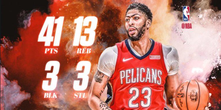 NBA 2017-18 nella notte del 6 Marzo Anthony Davis formato MVP trascina i Pelicans alla vittoria