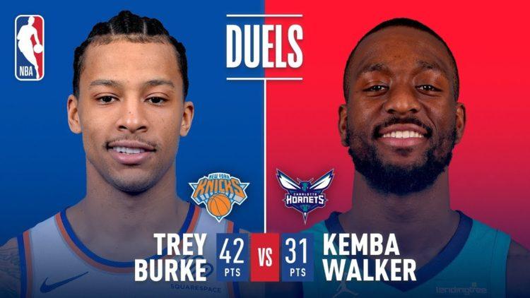NBA 2017-18 nella notte del 26 Marzo bel duello tra Walker e Burke, la spuntano gli Hornets
