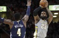 NBA 2017-18 nella notte del 7 Marzo KingJames è troppo grande per Denver, vincono i Cavs!