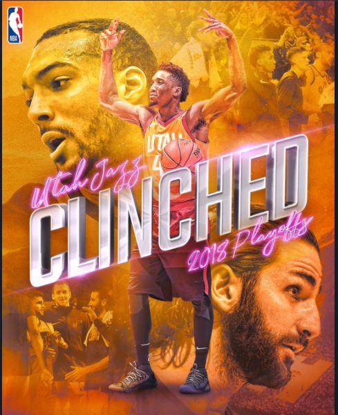 NBA 2017-18 nella notte dell'8 Aprile Utah vince e si qualifica ai playoffs