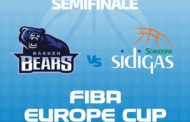 FIBA Europe Cup 1/2 Finals #Match2 2017-18: la Sidigas Avellino in Danimarca vs il Bakken Bears partendo dal +3 di Gara1