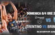 Lega A PosteMobile 2017-18: la Dolomiti Energia Trentino attende Brindisi per consolidare il posto Playoff