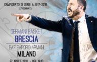 Lega A PosteMobile 2017-18: il fascino della sfida tra Germani Brescia e EA7 Milano