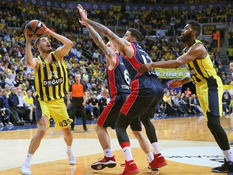 Euroleague Playoffs 2018: OK il Fener che va 2-0 nella serie vs il Baskonia mentre l'Olympiacos impatta vs lo Zalgiris