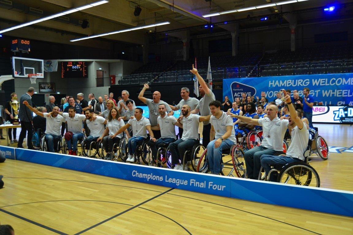 Basket in carrozzina F4 Champions League 2018: termina al 3° posto il Torneo per l'UnipolSai Briantea84 che batte l'RSV Lahn Dill nella finalina