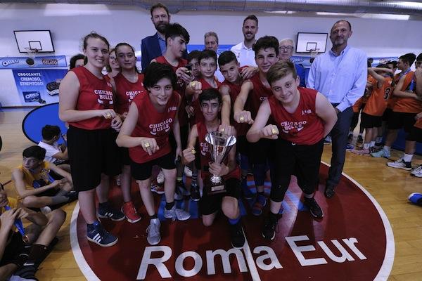 Giovanili femminili e maschili 2018: ai Chicago Bulls dell'IC Giuseppe Impastato di Roma l'anello della Jr. NBA FIP League