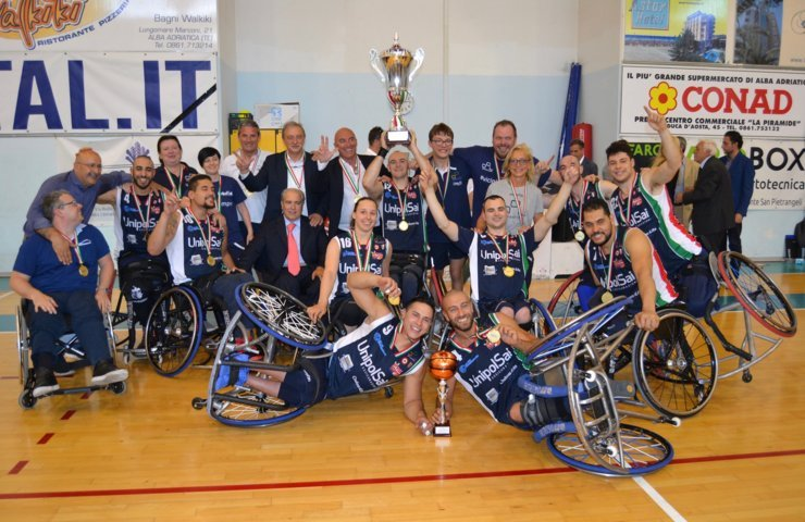 Basket in carrozzina #SerieAFipic Finale Scudetto 2018: ancora Super UnipolSai Briantea84 Cantù campione d'Italia battuta in Gara2 l'Amicacci Giulianova all'OT 71-76