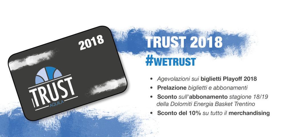 Sponsor&Marketing 2017-18: prosegue la campagna di sottoscrizione delle tessere Trust 2018 a Trento