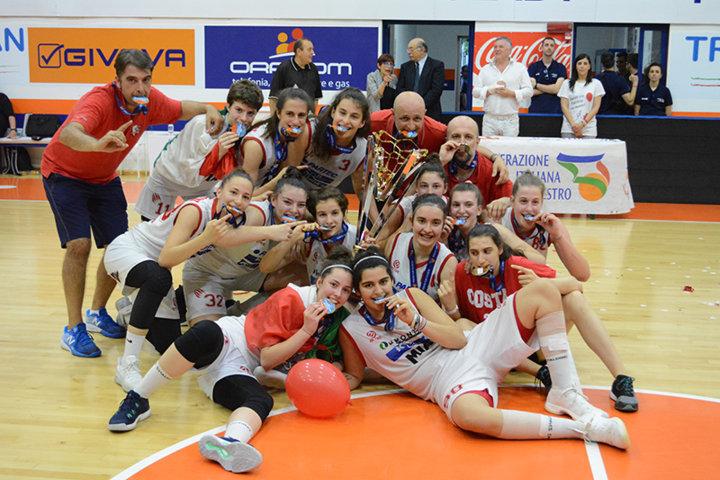 Giovanili Femminili 2017-18: il titolo nazionale U18F è delle ragazze del Costa Masnaga che battono in finale la Reyer 63-53