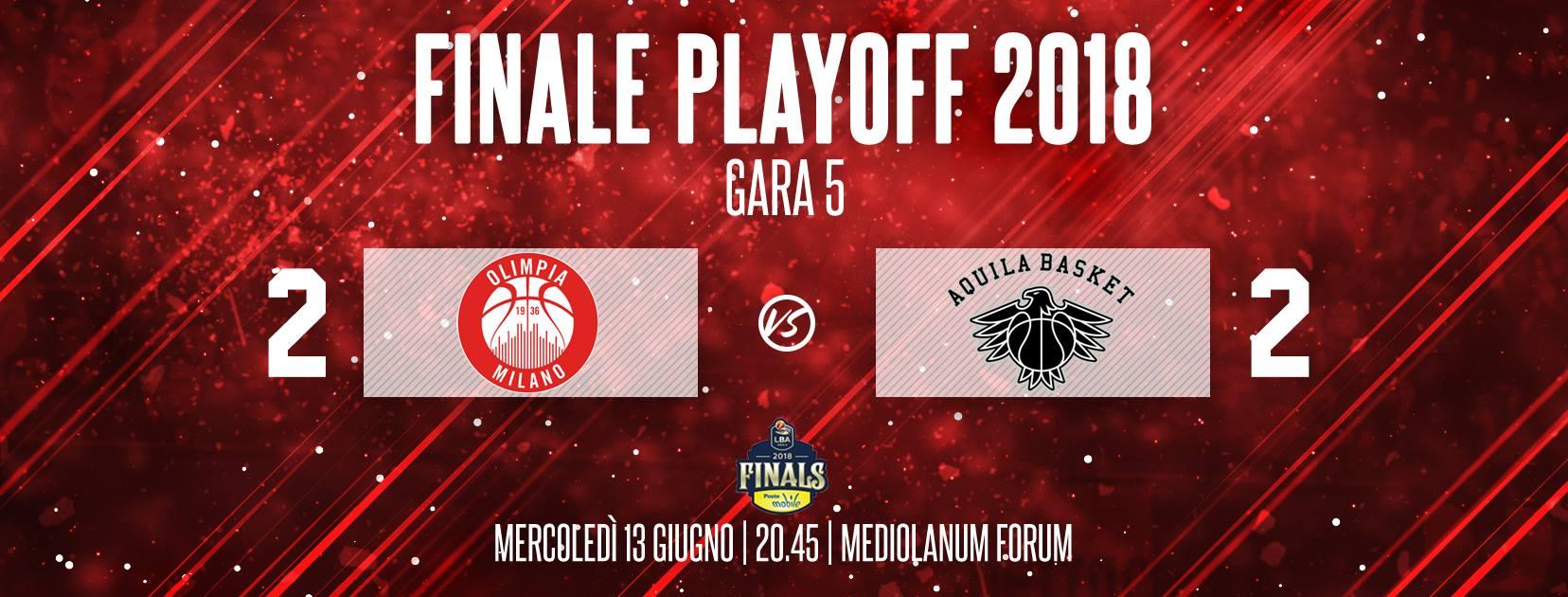 Lega A PosteMobile Finale Playoff 2018: mercoledì 13 giugno c'è Gara5 a Milano chi vince tra Trento ed Olimpia è ad un passo dal titolo
