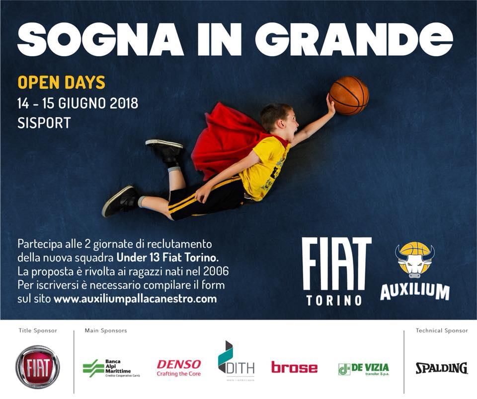 Giovanili Maschili Femminili 2018-19: nasce il team giovanile del Progetto FIAT Torino Generation