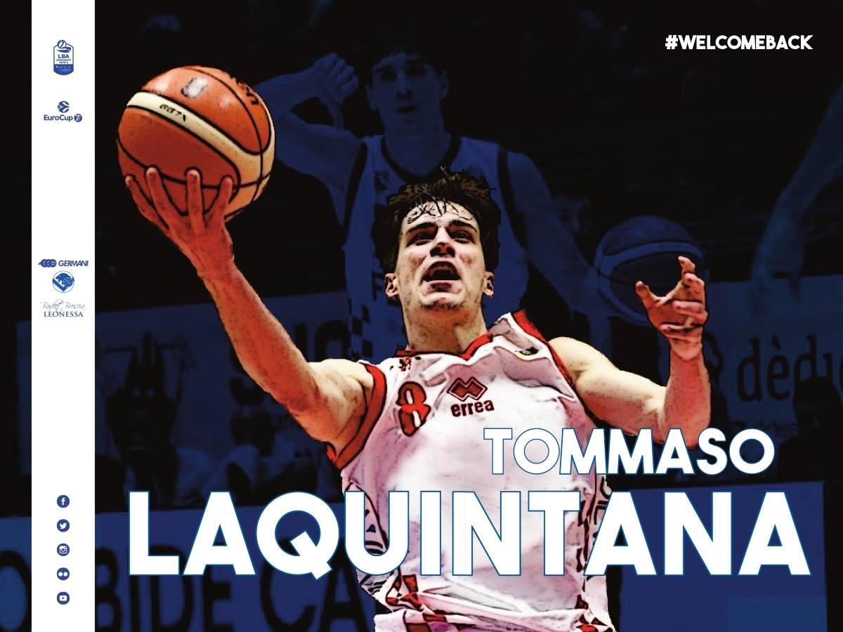 Lega A PosteMobile Mercato 2018-19: primo arrivo per la Germani Basket Brescia da Pistoia arriva Tommaso Laquintana
