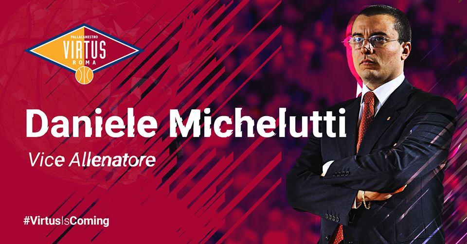 A2 Ovest Old Wild West Mercato 2018-19: Daniele Michelutti sarà l'assistant coach di Piero Bucchi alla Virtus Roma