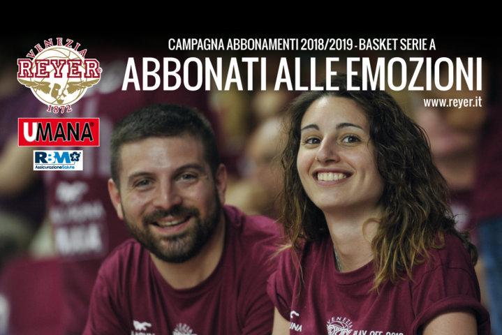 Lega A PosteMobile 2018-19: lanciata la campagna abbonamenti della Reyer Venezia