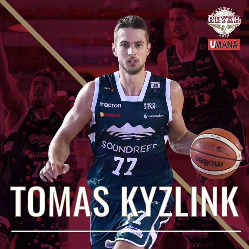 Lega A PosteMobile Mercato 2018-19: ufficializzato l'arrivo del ceco Tomáš Kyzlink all'Umana Reyer Venezia con un pluriennale
