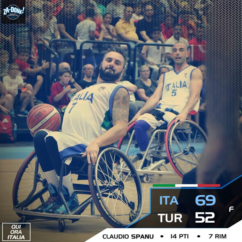 Basket in carrozzina IWBF World Cup 2018: è grande, grande ItalFipic che batte i campioni d'Europa della Turchia per 69-52