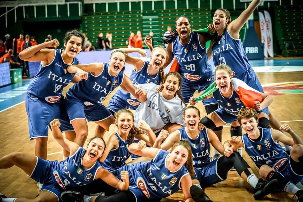 Nazionale Femminile 2018: che cuore l'Italbasket U16F agli Europei in Litunia battuta in rimonta la Francia, ora semifinale vs la Spagna venerdì 24 alle 20:15
