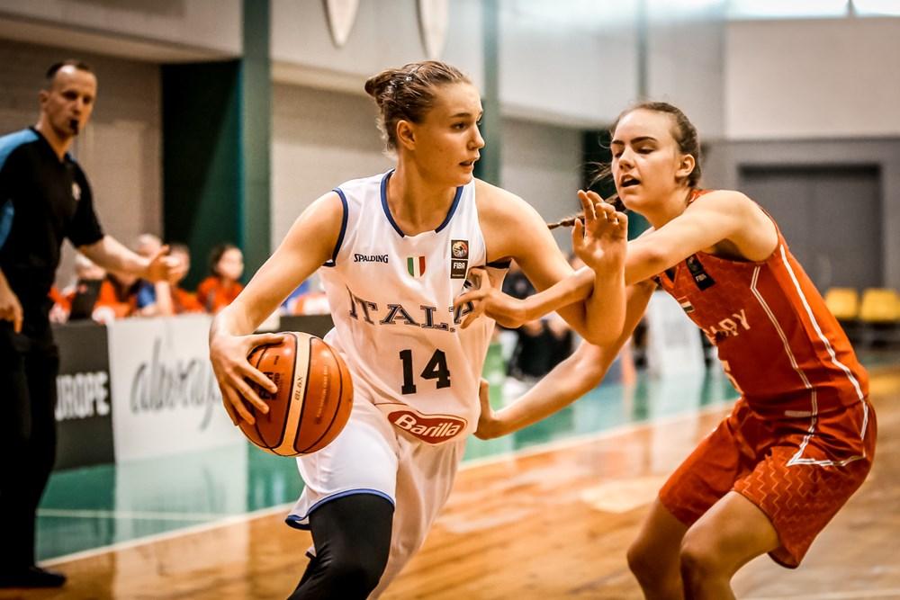 Nazionale Femminile 2018: ottimo esordio dell'Italbasket U16F in Lituania battuta nettamente l'Ungheria 79-51